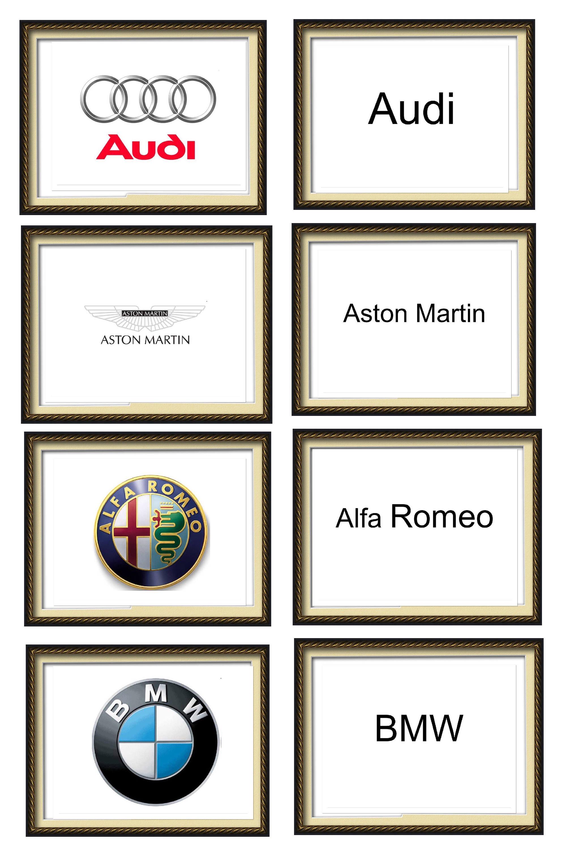 A Z Alphabet Car Symbols Stock Ticker Symbol Cards