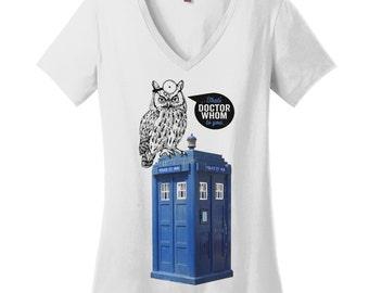 Dr Who Gift Grammar Police Shirt Grammar Shirt Grammar Tshirts for Women V Neck Tshirts Womens V Neck T Shirts for Women Dr Whom Owl Shirt