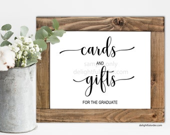 Printable Cards & Gifts for the Graduate Sign, Party Sign, Rustic Graduation, Graduation Printable (1) JPEG File, You Print, You Frame