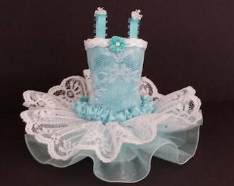 AQUA BALLET DRESS, ballerina tutu, miniature dress, bridesmaid gift, bat mitzvah gift, art dress
