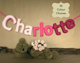 Personalised Felt Name Banner for Your Baby or Child