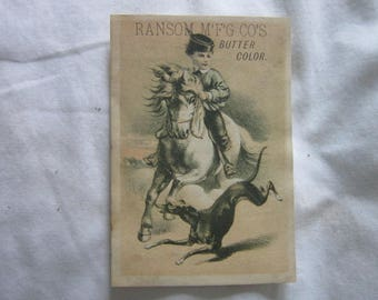 Victorian Trade Card Ransom Mfg Co Coloring for Dairy Products