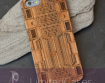 "Case for iPhone 6, 6 s with cherry-wood - Edition, laser-engraved ""Board"""