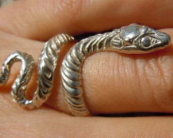 Sterling Silver or Gold Snake Ring