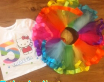 cartoon kitty tutu set