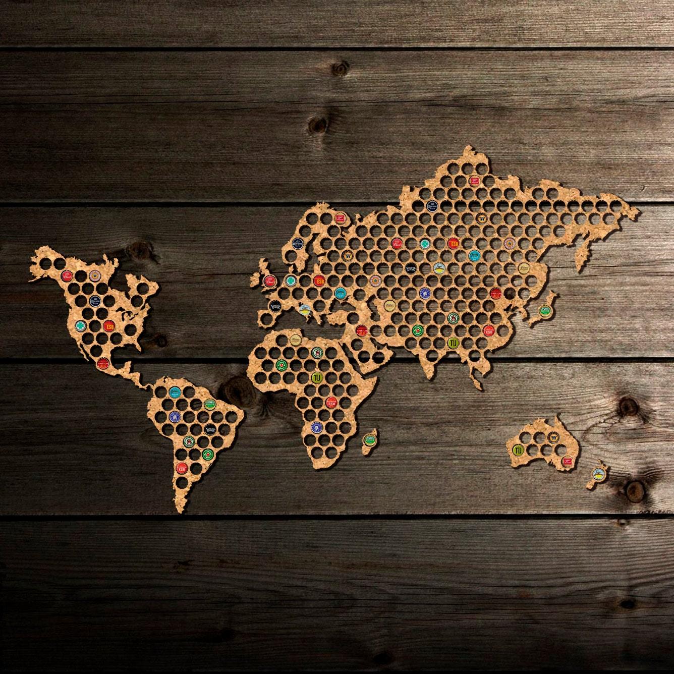 World beer cap map from cork tree beer cap holder beer cap zoom gumiabroncs Choice Image