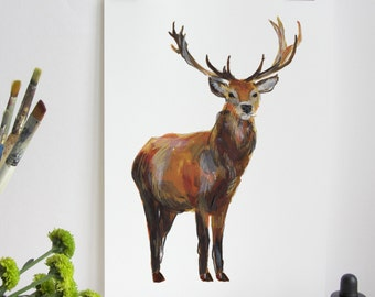 British Countryside - Stag Print