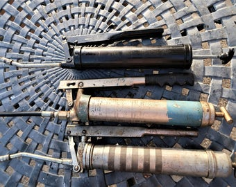 Vintage collection of~ collectible~ Grease Guns~Lincoln~Lubir~ and the Huffman Manufacturing