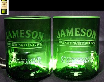 Jameson Whiskey Premium Rocks Glasses Set of 2, #1 Selling, Rocks Glass, Whiskey Glasses, Whisky Glasses, Bourbon Glasses, Scotch Glasses