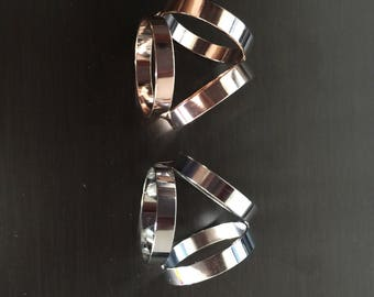 Pinkerly Trio triple three scarf ring gold and silver