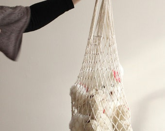 Eco friendly Natural Cotton Net Bag - Go Green - You can dye it