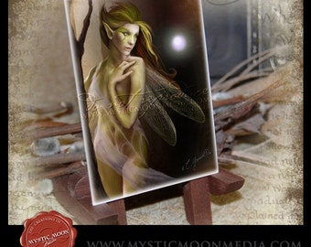LIMITED...Spider Lace... ACEO / ATC.. Fantasy Picture...Forest Fairy with Spider Clothing