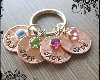 Custom Mother Penny Keychain,Valentines gift for mom, keychain, mom keychain, grandma keychain, stamped penny, custom pennies, custom penny