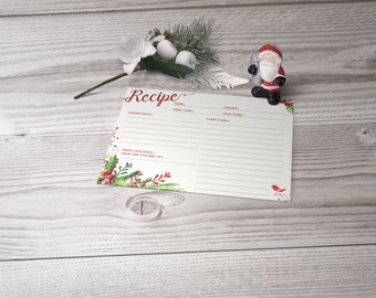Printable Holiday Recipe Cards