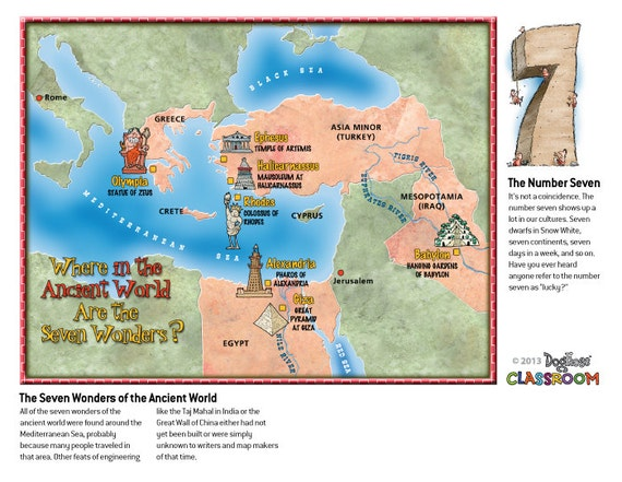 7 wonders of the ancient world classroom poster pdf file gumiabroncs Choice Image