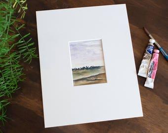 Lavender Fields - WATERCOLOR - ORIGINAL- PAINTING