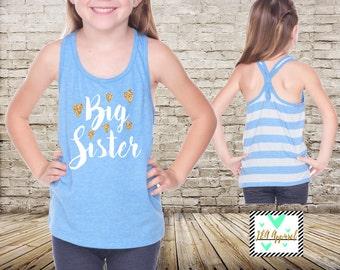 Big Sister Shirt Sibling Big Sister Tank Top Little Sister Shirts Big Sister Shirt Pregnancy Baby Announcement Shirt