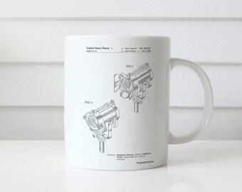 Stage Lighting Patent Mug, Director Gift, Movie Mug, Theater Decor, Movie Room Decor, Cinema Decor, PP0548