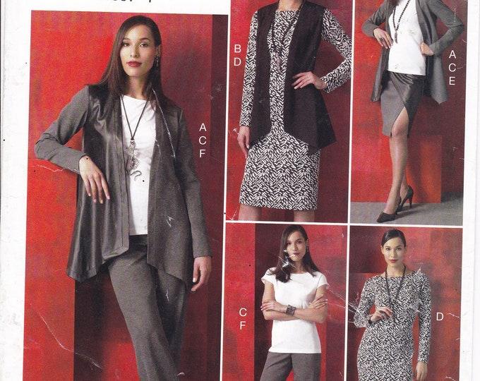 FREE US SHIP Vogue 951 9215 Sewing Pattern Separates Dress Jacket Vest Pants 4/14 16/26 Bust 29 30 32 34 36 38 40 42 44 46 48 Factory Folded