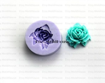 Rose Flower Flexible Silicone Mold Silicone Mould Candy Mold Chocolate Mold Soap Mold Polymer Clay Mold Resin Mold F0075