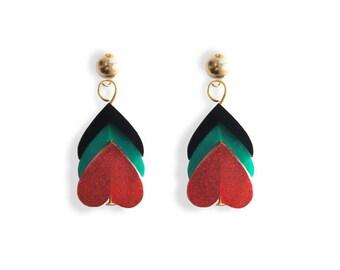 Heart Petals Earrings / Love Talismans Collection.