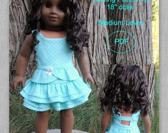 "Summer Party Set Top and Skirt for 18"" doll"