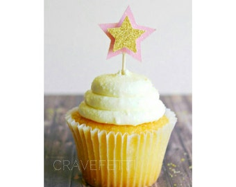 Twinkle Twinkle Little Star Cupcake Toppers. Twinkle Twinkle Little Star Theme. First Birthday. One Birthday. #1 Birthday. Baby Shower