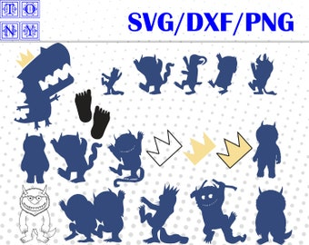 Wild thing svg,dxf,png/Wild thing clipart