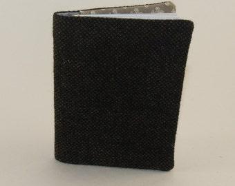 Traveler's Folio -Brown Wool, upcycled