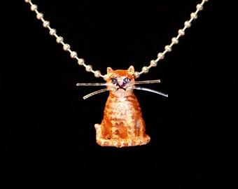 Cat Necklace, Custom Cats, Custom Cat necklace, personalized cat jewelry, cat jewelry, Orange cat necklace