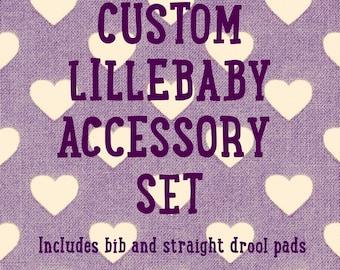 Lillebaby accessory set, lillebaby accessories, lillebaby bib, lillebaby suck pads, bib and suck pads, lillebaby suckpads