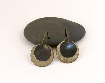 Earrings, Metal Bead Drop Earrings, Metal Earrings.
