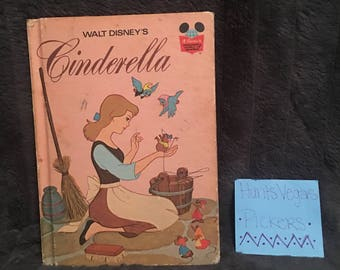 1974 Cinderella Disney Book