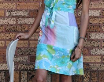 Enrouler autour de la robe faite avec des restes de tissu