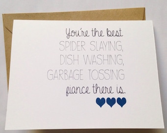 Fiance Valentine Card - Funny Love Card - Sweet Valentine - Romantic Card