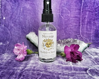 Nirvana, Bliss in a Bottle Sandalwood and Rose Aromatherapy Spray / Body Spritz/ All Natural Perfume Spray