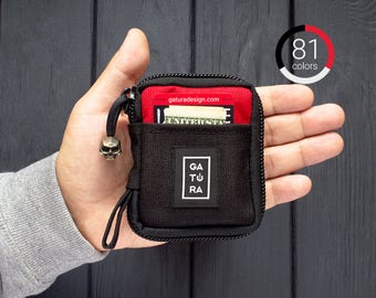 Small pocket organizer - Small EDC pocket pouch organizer from Cordura. For keys, knifes, tools and flashlights. 81 colors!