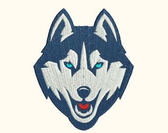 Wolf Husky Head Machine Embroidery Designs - Instant Download Filled Stitches Embroidery Design 324