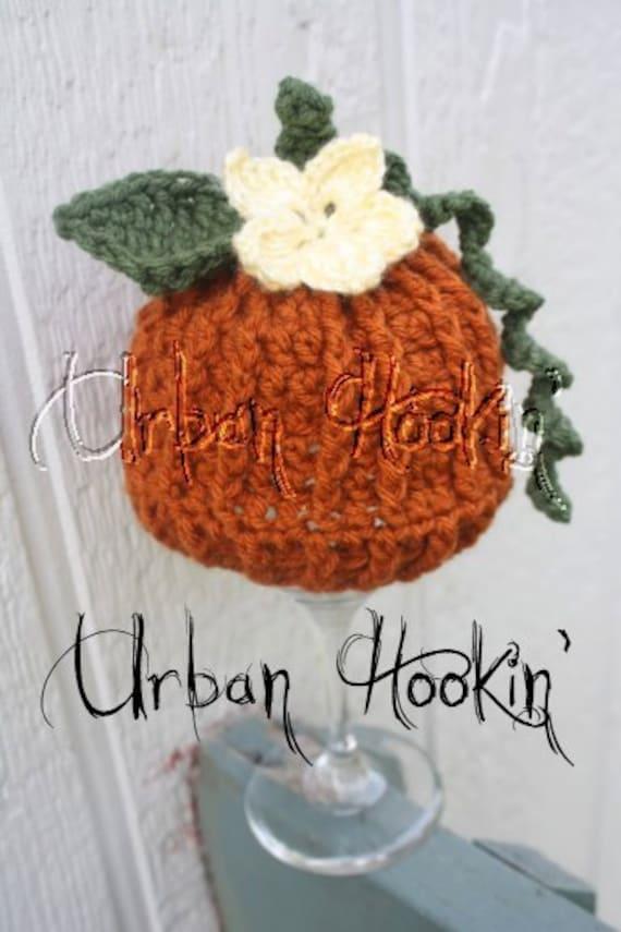 Crochet Pattern For Pumpkin Beanie Hat 5 Sizes Baby To