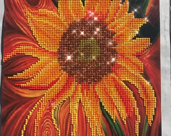 Sunflower rhinestone painting - No Frame