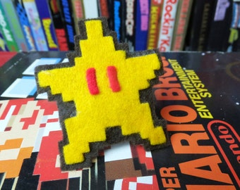 Invincibility Star NES felt ring