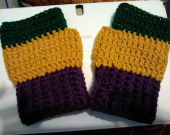 Fingerless Mardi Gras Gloves - Fingerless Gloves