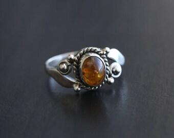 Amber Silver Ring Oval,   Silver ring, Amber ring