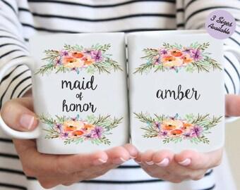 Custom Maid of Honor Mug, Maid of Honor Mug, Bridesmaid Mug, Wedding Party Mug, Wedding Mug, Maid of Honor Coffee Mug, Maid of Honor