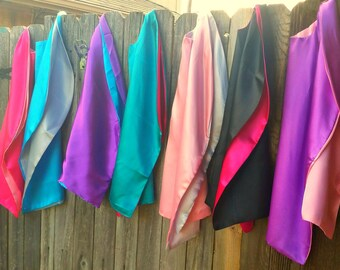 20 blank party favor capes,  party pack, superhero capes bulk, reversible capes, superhero party favors, cape party favor, superhero party