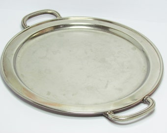 Vintage round silver tray