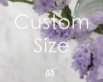 Additional listing for Custom size option.
