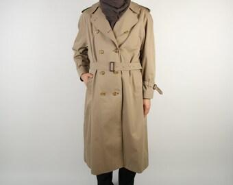 BURBERRY Coat Khaki Women Trench Coat Vintage Classic Trenchcoat Overcoat Raincoat