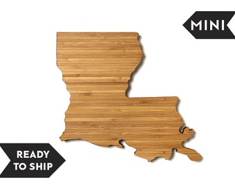 On Sale! MINI Louisiana State  Cutting Board, Personalized Cutting Board, Custom Cutting, Board Unique Wedding Gift, Personalized Gift