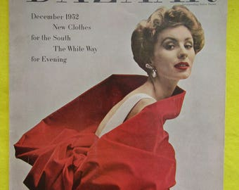 December 1952 BAZAAR Fashion MAGAZINE